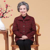 新品秋装中老年女装60岁妈妈装春秋毛呢外套奶奶老年人大码上衣服