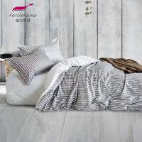 [当当自营]维众家纺 纯棉被套单人 经典条纹150*205cm