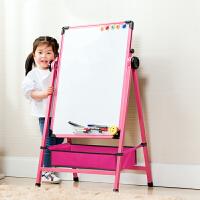 儿童画板合金画架磁性写字板支架式可升降小黑板家用宝宝涂鸦白板