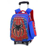 小学生拉杆书包男生1-2-3-4年级蛛蛛侠儿童带六轮子背拉两用