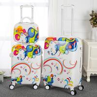 子母箱行李箱糖果拉杆箱万向轮女旅行箱密码箱卡通20 24寸小清新