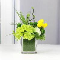 仿真花束假花摆件餐桌装饰房间的小饰品卧室北欧花艺摆设