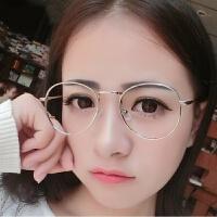 201808222035381992018新款防护目辐射眼镜男女蓝光平面无度数圆框复古素颜电脑近视眼睛
