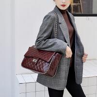 菱格大容量链条包包女秋季新款锁扣单肩包斜挎包大包女包