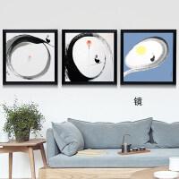 客厅装饰画沙发背景墙挂画餐厅卧室壁画无框画三联画现代简约水晶 78*78 白色框 拼套