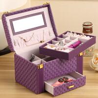 化妆盒化妆品收纳盒化妆箱首饰盒欧式三层大容量分格抽屉整理小盒子送女友闺蜜礼物