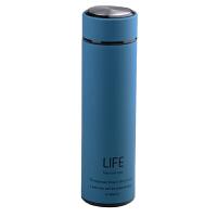 【当当自营】北斗正明保温杯 男士女高档不锈钢水杯便携真空商务茶杯子 500ML蓝色