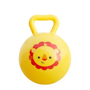 【当当自营】费雪FisherPrice 儿童4寸手柄球摇铃球6-12个月婴儿智力玩具宝宝手抓球皮球F0517-3黄色