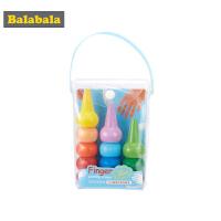 巴拉巴拉儿童蜡笔手握可擦画笔套装画画涂鸦彩笔手指绘画颜料12色