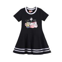 【2件5.5折到手价:82】小猪班纳童装小黄人IP女童连身裙2019夏季有袖连衣裙裙装
