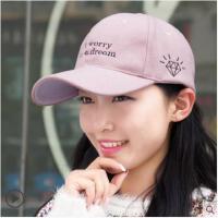 女秋冬棒球帽韩版时尚刺绣鸭舌帽保暖冬毛呢帽潮流运动帽