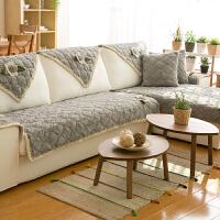 沙发垫冬季加厚毛绒布艺北欧简约客厅防滑皮实木套巾罩四季坐垫子