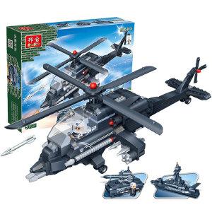 【当当自营】邦宝小颗粒拼插积木益智儿童玩具礼物3合1阿帕奇军事战机8478