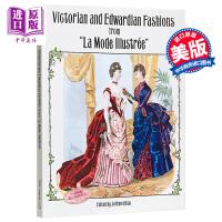 【中商原版】维多利亚与爱德华时代服装款式 英文原版 艺术设计 Victorian and Edwardian Fash
