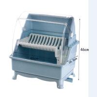 碗柜塑料带盖碗碟架放碗架收纳盒双层沥水架装碗筷箱厨房置物架厨房收纳架碗架沥水