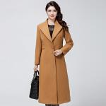 中老年女装长款外套女装秋冬新款妈妈装过膝韩版大衣风外套  bj-F188-803