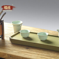 端溪砚石茶盘简约家用绿端石干泡茶盘托盘端砚茶台功夫茶具套装