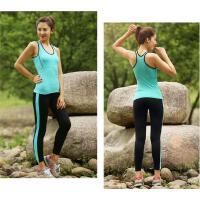 新款瑜伽服三件套 女 时尚性感跑步运动服 修身显瘦运动健身服