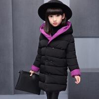 童装女童时尚棉衣外套2017新款韩版装中大童女孩两面穿棉袄 110cm(110cm(两面都可穿 加厚)