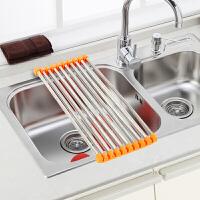 红兔子(HONGTUZI) 厨房水槽不锈钢折叠沥水架置物架厨房水槽架 可伸缩不占空间