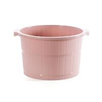 居家家 带按摩泡脚桶冬季加高洗脚盆 塑料加厚足浴盆足浴桶洗脚桶