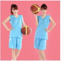 新款 印字印号篮球衣背心训练服 定制DIY女式篮球服套装