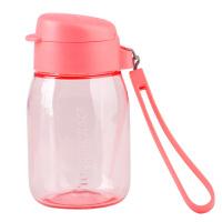特百惠新品 嘟嘟企鹅杯350ML随手杯便携防漏迷你学生儿童塑料水杯红色