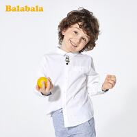 【7折价:62.93】巴拉巴拉儿童衬衫男童长袖宝宝上衣春装童装纯棉白衬衣洋气小绅士