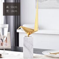 家居饰品摆件客厅酒柜装饰品鸟摆设室内现代简约软装大理石金属
