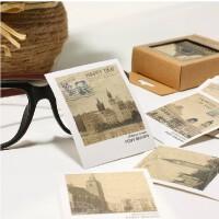 韩国文具 复古世界风景lomo明信片/卡片/贺卡 40张盒装