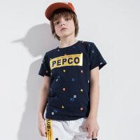 【2件5.5折到手价:49】小猪班纳童装男童短袖t恤2019夏季新款儿童圆领上衣男