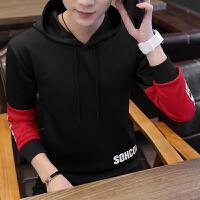 卫衣男长袖圆领套头打底衫青少年长袖T恤青年大学生韩版帅气外套W227