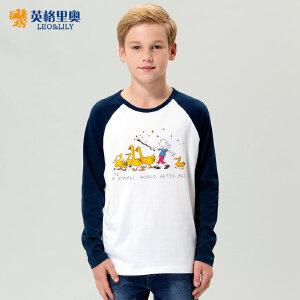 男童长袖T恤2018春秋装新款中大儿童学生圆领纯棉卡通体恤打底衫