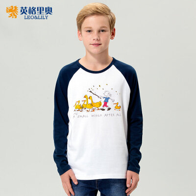 男童长袖T恤2018春秋装新款中大儿童学生圆领纯棉卡通体恤打底衫2件5折 更有特价专区