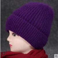 兔毛针织毛线帽女优雅中老年人保暖帽老人帽子女妈妈奶奶帽加厚绒