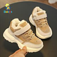 【2.5折价87.5元】芭芭鸭童鞋儿童运动鞋子男童毛毛鞋女童鞋加绒加厚休闲鞋