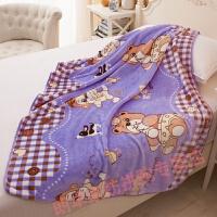 幼儿园用的加绒加厚小毛毯薄珊瑚绒婴儿小毛毯新生儿宝宝 单层超柔96cmx130cm