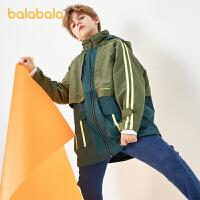 【3件4折:127.2】巴拉巴拉男童上衣儿童外套2020秋装新款宽松韩版外衣潮酷印花时尚