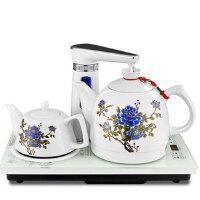 金杞 自动上水陶瓷电热水壶 自动上水抽水电热水壶茶具套装煮茶器1.2升陶瓷水壶