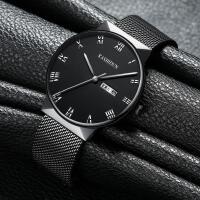 手表男学生男士手表运动石英表防水时尚潮流丝带男表韩腕表