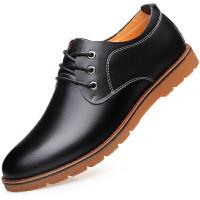 波图蕾斯皮鞋男士商务休闲皮鞋低帮英伦休闲鞋系带板鞋男