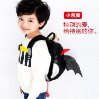 小恶魔可爱书包儿童防走失背包1-3-5岁女童小包包男宝宝双肩包潮