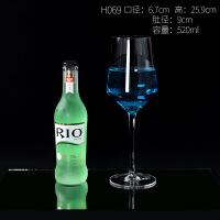 红酒杯单支套装大号单支装欧式水晶高脚杯大肚玻璃杯家用无铅高透 H069水晶红酒杯(单支)