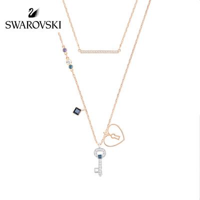 【到手价990元,8.18开抢】SWAROVSKI/施华洛世奇 Glowing新品可变二合一女项链套装心形钥匙锁52732958.18施华洛世奇品牌盛典