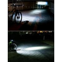 自行车灯车前灯充电喇叭t6强光手电筒山地公路车夜骑配件骑行装备