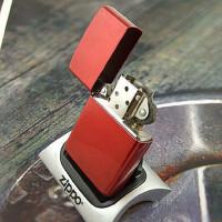 美国芝宝Zippo打火机 糖果漆/光板 21063苹果红
