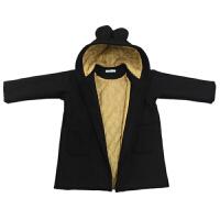 女童毛呢大衣秋装新款韩版童装中大童加厚夹棉呢子外套