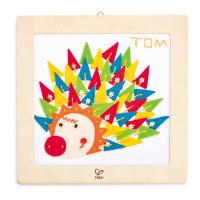 【特惠】HapeDIY刺绣布贴画-刺猬6岁以上儿童创意布贴画绘画手工手工E5101
