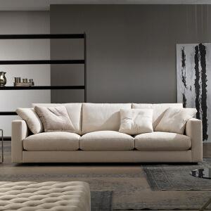 N空间 超感北欧沙发设计师款W1857 组合沙发转角沙发牛皮沙发羽绒沙发乳胶沙发