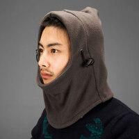 户外军迷保暖男女通用抓绒帽 骑行面罩护耳围脖防风帽